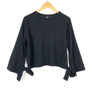 Varley Long Sleeve Sweatshirt XS Black Tie Cuffs